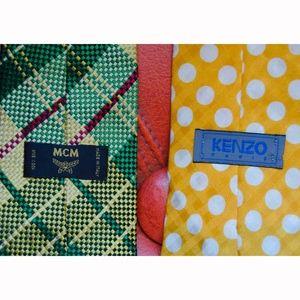 MCM and Kenzo Men's Silk Ties